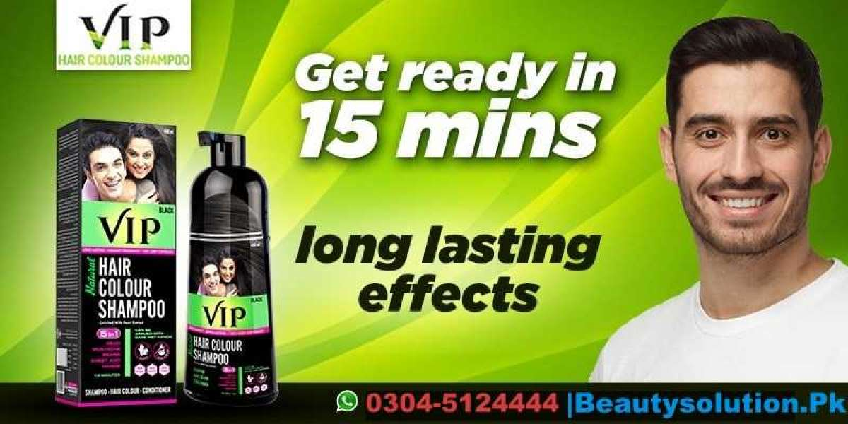 Buy VIP Hair Color Shampoo In Karachi   Lifetime Black Hair-03155123333