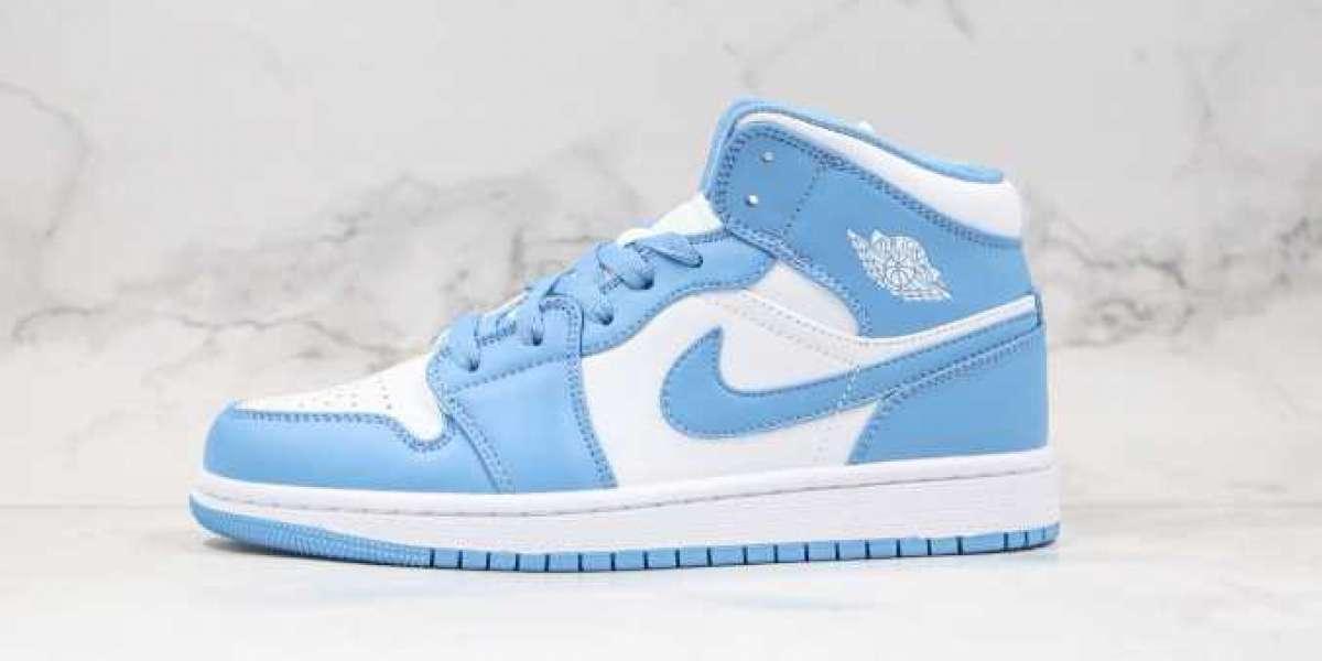 Free Shipping Air Jordan 1 Low North Carolina Blue On Sale