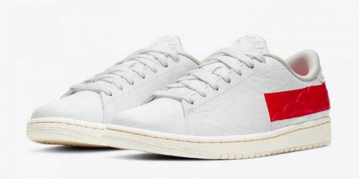 DJ2756-101 Air Jordan 1 Low Centre Court White University Red Coming Soon